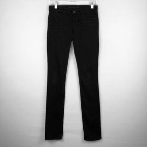 J Brand Pencil Leg Skinny Black Jeans in Shadow 25